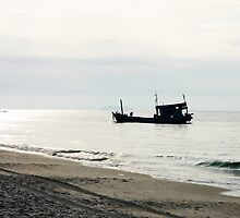 Fishing Boat, Ko Somet, Thailand by LeightonM1