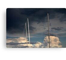 sailing in the cloudy sky Canvas Print