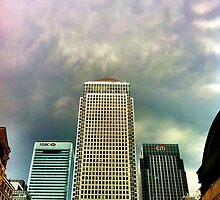 Canary Wharf In A Storm by Don McGowan