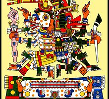 Mictlantecuhtli and Quetzalcoatl Ehecatl - Codex Borgia by Gwendal
