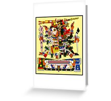 Mictlantecuhtli and Quetzalcoatl Ehecatl - Codex Borgia Greeting Card