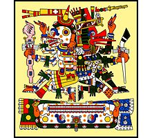 Mictlantecuhtli and Quetzalcoatl Ehecatl - Codex Borgia Photographic Print