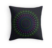 Psychedelic Spin Throw Pillow