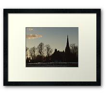 Evening Reflection, Chester Framed Print