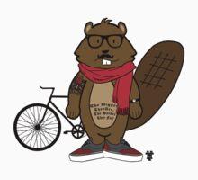 Hipster Beaver by HammerandTong