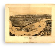 Panoramic Maps Birds' eye view of New-Orleansdrawn from nature on stone by J Bachman ie Bachmann 004 Canvas Print