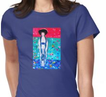"""Lady in Blue - My Hommage to Klimt's """"Portrait of Adele Bloch-Bauer """" Womens Fitted T-Shirt"""