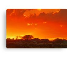 """""""Autumn Sunset ....."""" Canvas Print"""