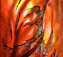 Dancing Fire I by Irina Sztukowski