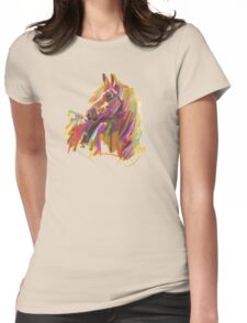 Horse true colours  Womens Fitted T-Shirt