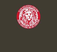 Club Ciclistico Coglioni: Monarch lion (red on white, small) Unisex T-Shirt