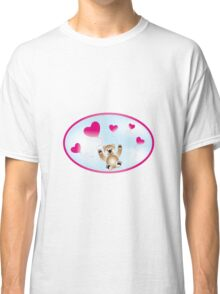Teddy with heart-balloons Classic T-Shirt