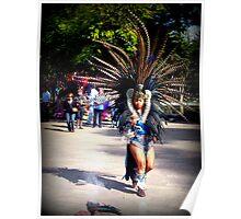 A Dancing Aztec Poster