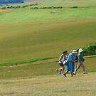 Rushing up the Hill, Beachy Head by KUJO-Photo