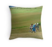 Rushing up the Hill, Beachy Head Throw Pillow