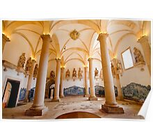 King's room. Alcobaça Monastery Poster