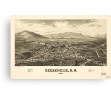 Panoramic Maps Keeseville NY 1887 Canvas Print