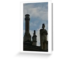 The statu of Roman Bath  Greeting Card