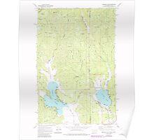 USGS Topo Map Washington State WA Newman Lake 242809 1973 24000 Poster
