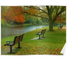 Park Benches, Stratford-upon-Avon Poster