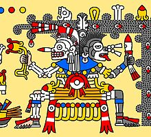 Aztec Gods - Codex Laud 11 by Gwendal