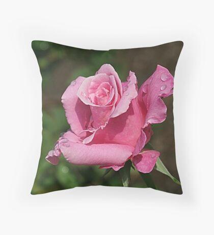 Rosy Rose Throw Pillow