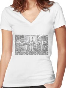 Pulp Fiction Quotes Women's Fitted V-Neck T-Shirt