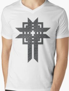 Steel Cross Mens V-Neck T-Shirt