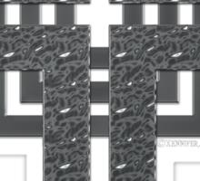 Steel Cross Sticker