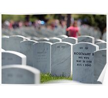 Arlington National Cemetary - Memorial Day 2012  Plate No. # X Poster