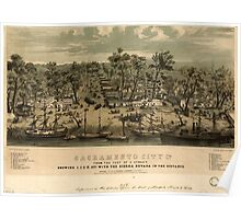 Panoramic Maps Sacramento city Ca from the foot of J Street showing I J K Sts with the Sierra Nevada 004 Poster