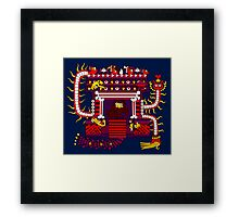 Mayan Bone House of Darkness Framed Print