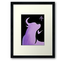 Year of the Ox - Minimalistic Bull Emblem Framed Print