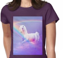 Unicorn and Rainbow Womens Fitted T-Shirt