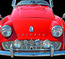 TRIUMPH TR3 RED by Rich Norris