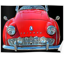 TRIUMPH TR3 RED Poster
