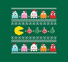 Get Ready! Christmas Pac-Man (GREEN) Unisex T-Shirt