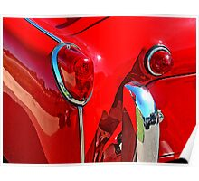 TRIUMPH TR3 RED 3 Poster