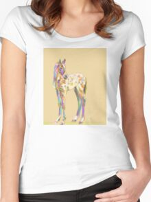 Foal paint Women's Fitted Scoop T-Shirt