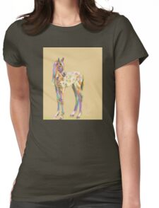 Foal paint Womens Fitted T-Shirt