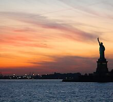 Liberty at sundown by Abby Lewtas