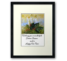 A Card for Christmas Framed Print