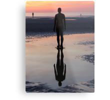 Staring at the Sea, Crosby Beach Metal Print
