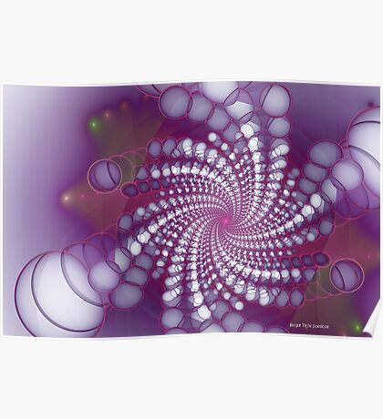 Spiralling Bubbles Poster