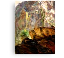 From the Canyons Shadows Canvas Print
