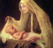 Mary and Baby Jesus by collin