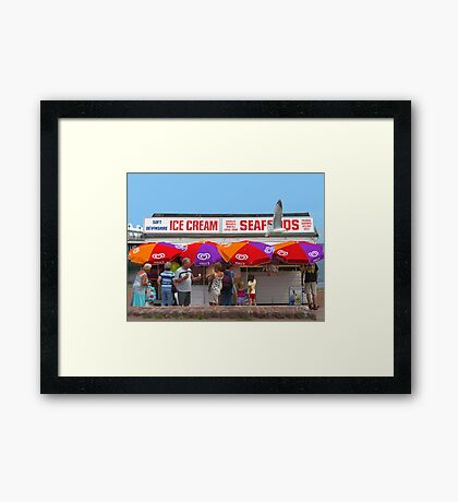 Ice Cream, Torquay Framed Print