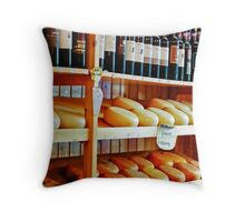 Wine and Pecorino Cheese Shop Throw Pillow