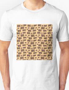 Multi-lingual coffee wallpaper Unisex T-Shirt