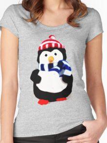 Cute Penguin T-shirt Women's Fitted Scoop T-Shirt